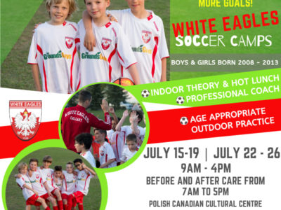 White Eagles Soccer Camps Registration NOW OPEN!